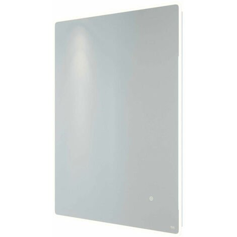 RAK Amethyst Portrait LED Mirror with Switch and Demister Pad 800mm H x 600mm W Illuminated