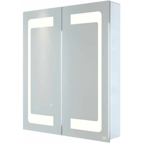 RAK Aphrodite 2-Door Mirrored Bathroom Cabinet 700mm H x 600mm W