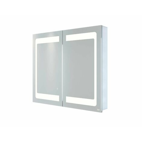 RAK Aphrodite LED Bathroom Mirror Cabinet Demister Pad Shaver Socket 700 x 800mm