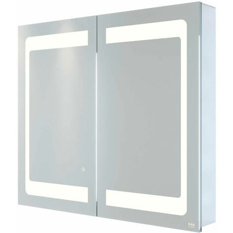 RAK Aphrodite 2-Door Mirrored Bathroom Cabinet 700mm H x 800mm W