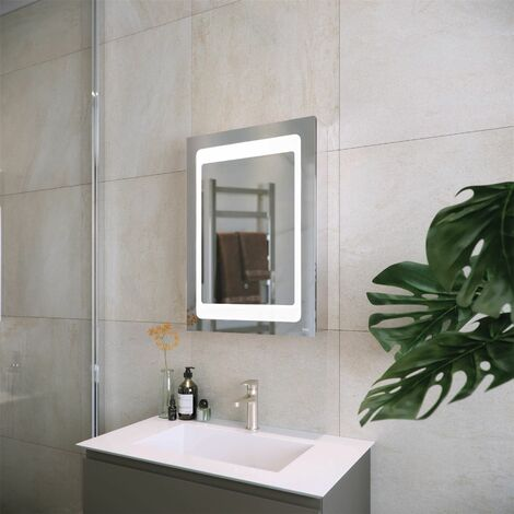 RAK Aphrodite LED Bathroom Mirror Cabinet Demister Pad Shaver Socket 700 x 600mm