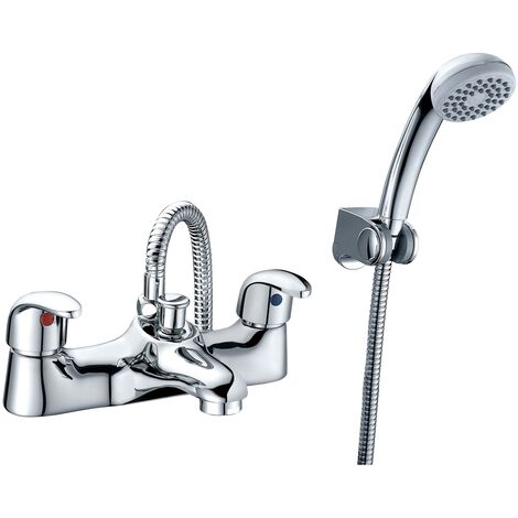 RAK Basic Bath Shower Mixer with Shower Head and Hose - Chrome