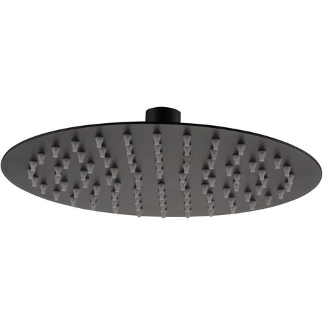 RAK Black 250mm Round Ultra Slim Shower Head - RAKSHW1006B
