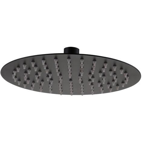 RAK Ultra Slim Round Shower Head - Black