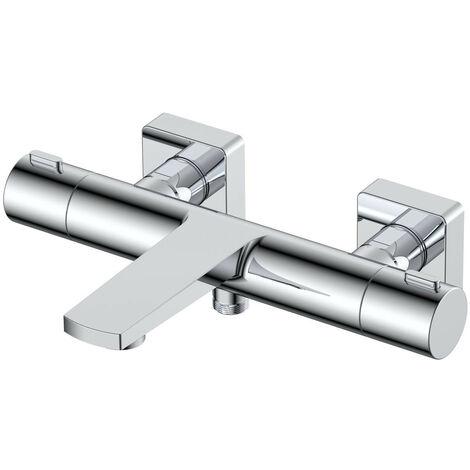 RAK Blade Exposed Wall Mounted Thermostatic Bath Shower Mixer Tap - RAKBLD3009