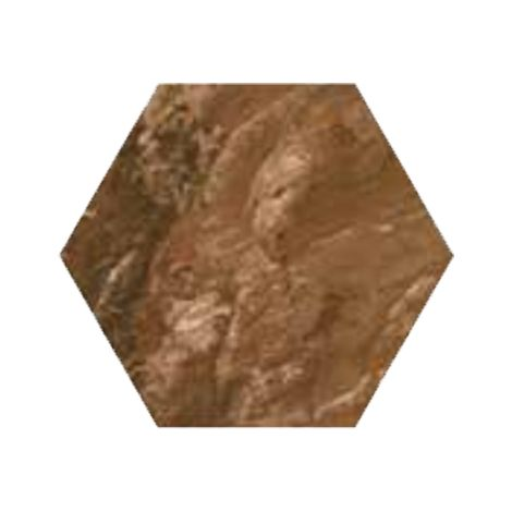 RAK Ceramics Country Brick Brown Hexagonal Tiles (20 x 23)