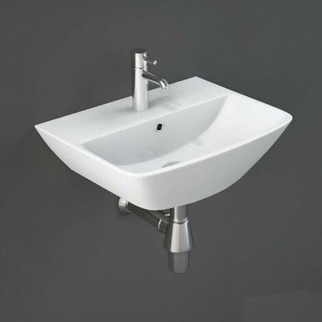 RAK Ceramics Summit Wall Hung Basin Sink Bathroom Cloakroom 400mm 1 Tap Hole