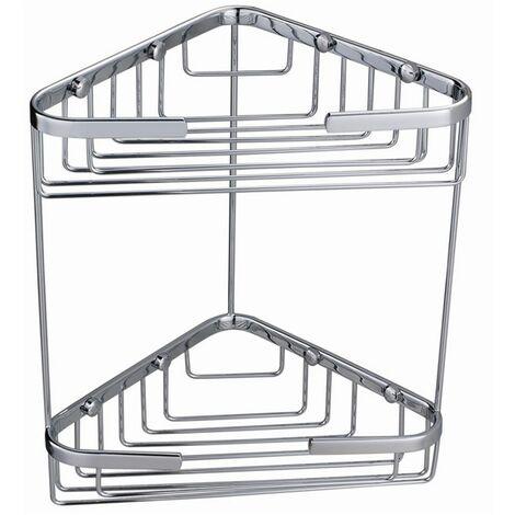 RAK Chrome Double Corner Basket - RAKBSK001
