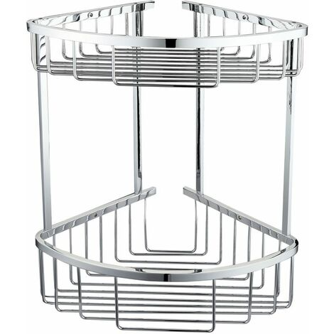 RAK Chrome Round Front Double Corner Basket - RAKBSK002