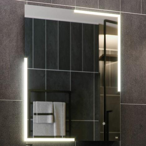 RAK Citrine Portrait LED Mirror with Switch and Demister Pad 800mm H x 600mm W Illuminated