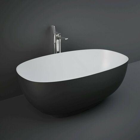 RAK Cloud Black 1400mm x 750mm Double Ended Freestanding Bath - CLOBT14075504
