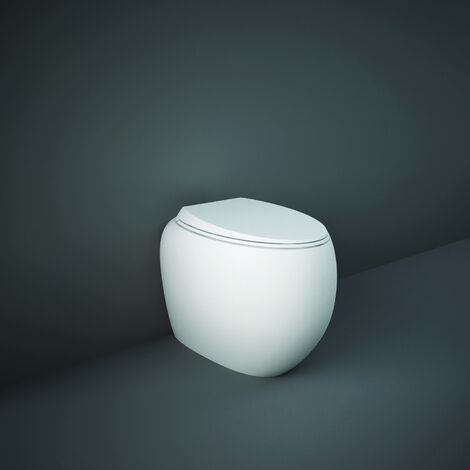 RAK Cloud Rimless Back to Wall Toilet with Urea Soft Close Seat - Matt White