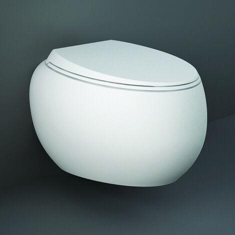 RAK Cloud Rimless Wall Hung Toilet with Urea Soft Close Seat - Matt White