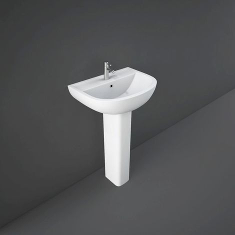 RAK Compact 450mm Basin with 1 Tap Hole and Small Pedestal