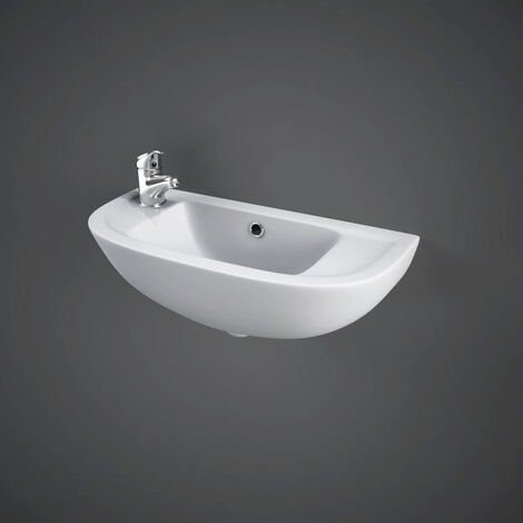 RAK Compact 450mm Left Hand Slimline Basin with 1 Tap Hole - COMSLWB1LH