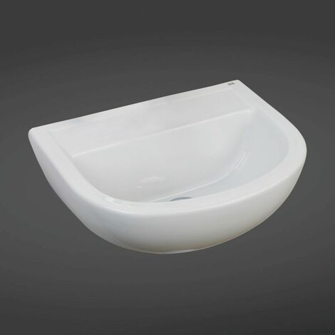 RAK Compact 500mm Doc M Basin with 1 Tap Hole and No Overflow - COM50BASSN1