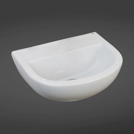 RAK Compact 500mm Doc M Basin with 2 Tap Holes and No Overflow - COM50BASSN2