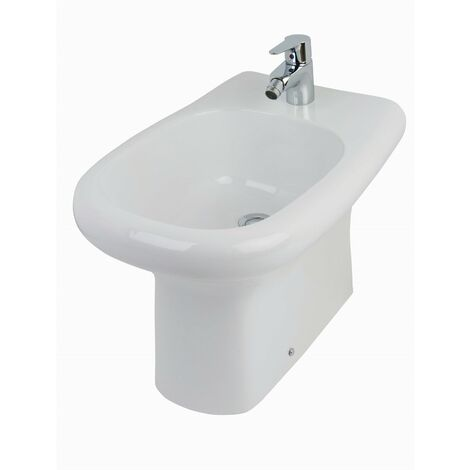 RAK Compact Back to Wall Bidet 510mm Projection 1 Tap Hole (Tap Not Included)