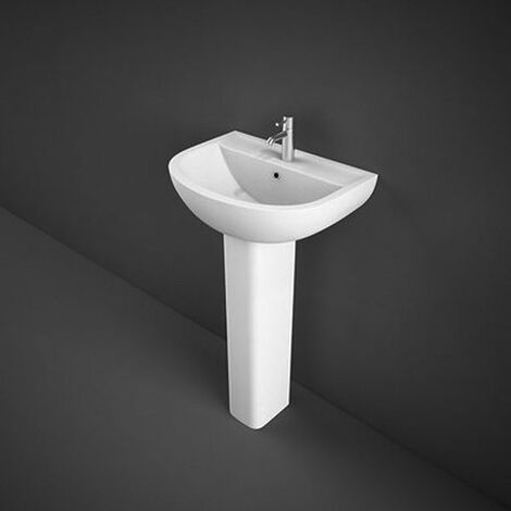 RAK Compact Basin with Full Pedestal - 450mm Wide - 1 Tap Hole
