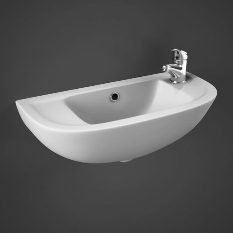 RAK Compact Cloakroom Basin 450mm Wide 1 RH Tap Hole
