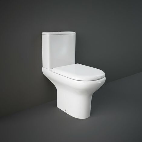 RAK Compact Close Coupled Open Back Toilet & Soft Close Seat