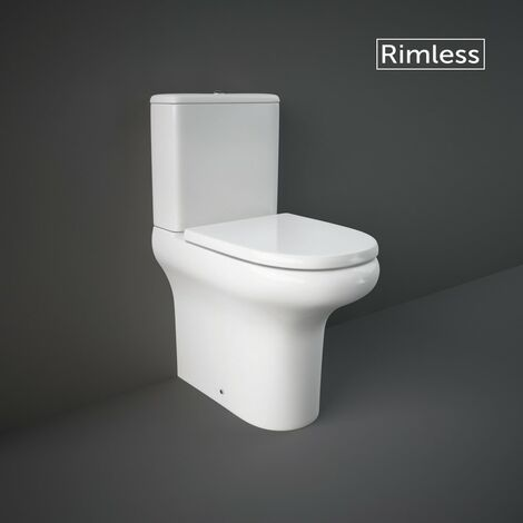 RAK Compact Comfort Height Close Coupled Closed Back Toilet & Soft Close Seat