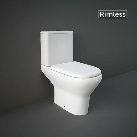RAK Compact Comfort Height Close Coupled Open Back Toilet & Soft Close Seat