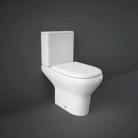 RAK Compact Deluxe 450mm Close Coupled Toilet with Soft Close Seat - COMPAK45010/FA