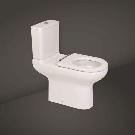 RAK Compact Deluxe 455mm Rimless Close Coupled Toilet Pan and Cistern - COMRIM45PAK-FA/NS
