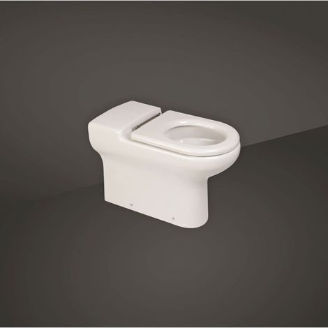RAK Compact Doc M 700mm Extended Rimless Back to Wall Toilet Pan - COMBTW700