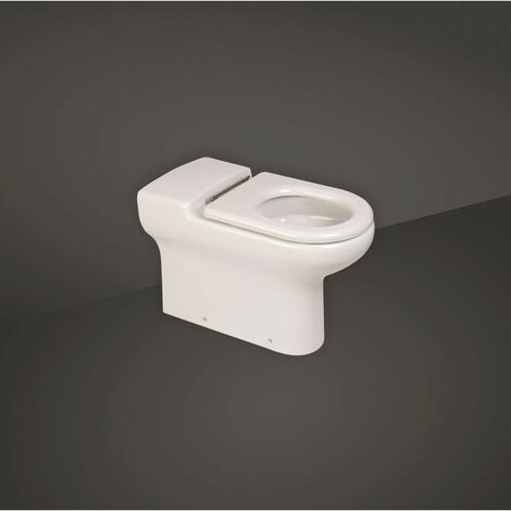 RAK Compact Doc M 750mm Extended Rimless Back to Wall Toilet Pan - COMBTW750