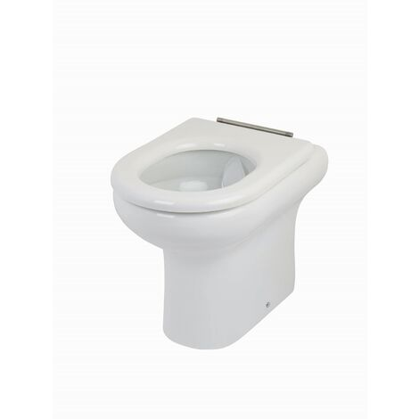 RAK Compact Rimless Back to Wall Toilet WC 455mm Comfort Height with Soft Close Seat