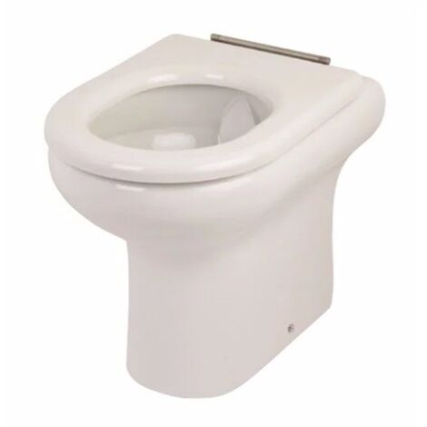 RAK Compact Special Needs 425mm High Rimless Back to Wall Toilet Pan