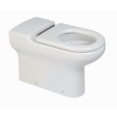 RAK Compact Special Needs Back to Wall Toilet WC 750mm Projection - Ring Seat