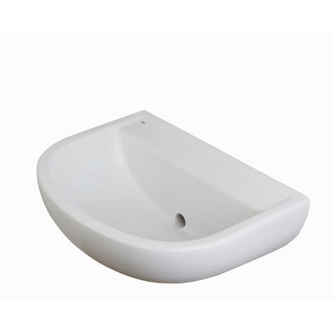 RAK Compact Special Needs HO Cloakroom Basin 500mm Wide 0 Tap Hole