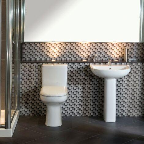 RAK Compact Toilet & Basin Bathroom Suite - 1 Tap Hole
