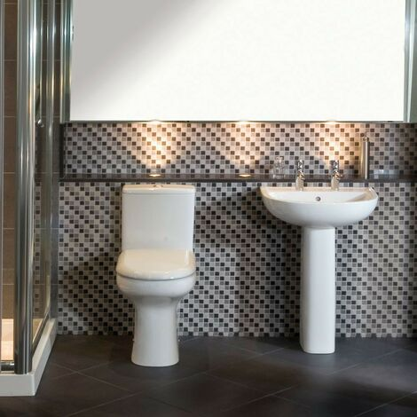 RAK Compact Toilet & Basin Bathroom Suite - 2 Tap Hole