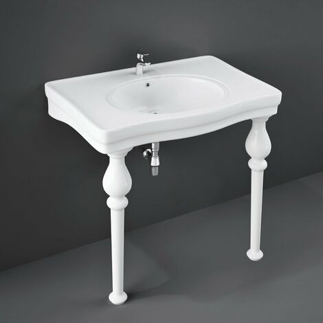 RAK Console Alexandra Basin with Ceramic Legs 850mm Wide - 1 Tap Hole