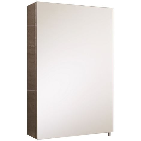RAK Cube 600mm x 400mm x 120mm Single Stainless Steel Cabinet with Mirrored Door - 12SL802