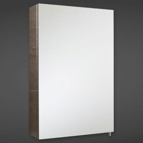 RAK Cube Mirrored Bathroom Cabinet 600mm H x 400mm W Stainless Steel