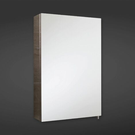 RAK Cube Unlit Rectangular Bathroom Mirror Stainless Steel Cabinet 600 x 400mm