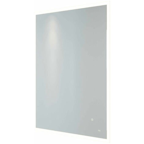 RAK Cupid Portrait LED Mirror with Switch and Demister Pad 800mm H x 600mm W Illuminated