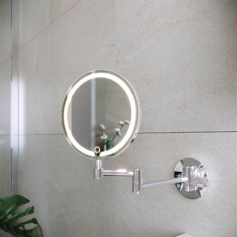 RAK Demeter LED Bathroom Shaving Mirror Illuminated Touch Sensor 200 x 200mm