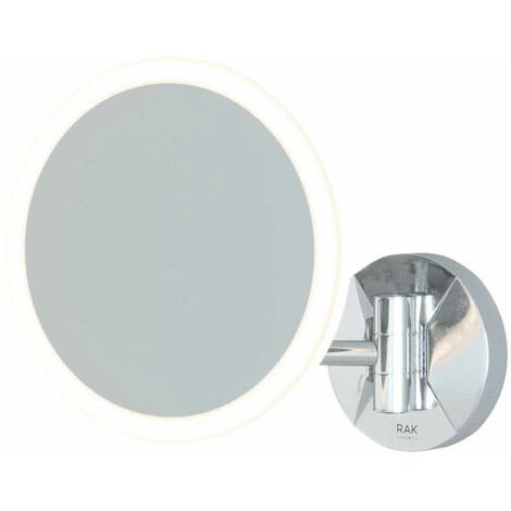 RAK Demeter Plus Round LED 3x Magnifying Mirror with Magnetic Pullout Switch 213mm H x 200mm W Illuminated
