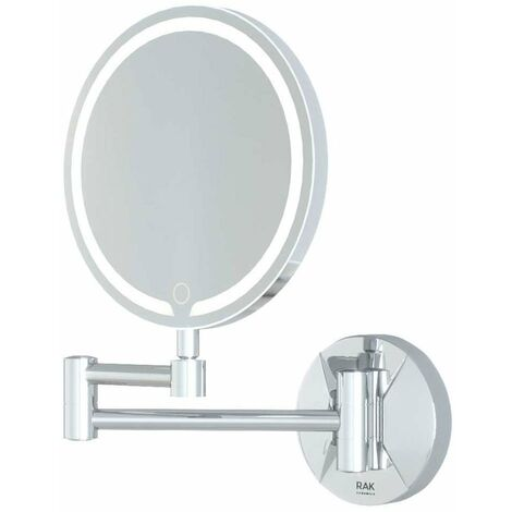 RAK Demeter Round LED 3x Magnifying Mirror with Switch 264mm H x 200mm W Illuminated