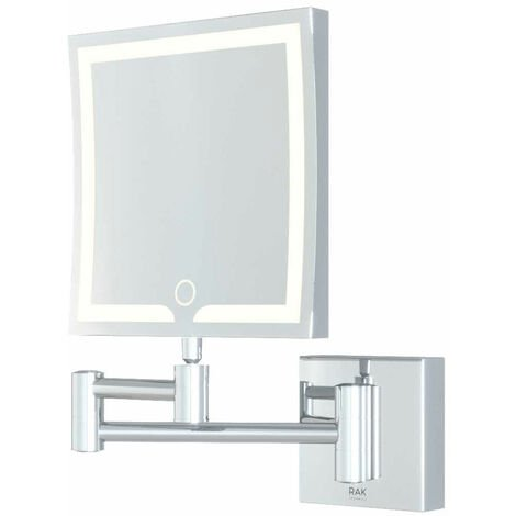 RAK Demeter Square LED 3x Magnifying Mirror with Switch 264mm H x 200mm W Illuminated