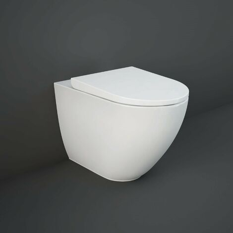 RAK Des Rimless Back to Wall Toilet with Hidden Fixing 520mm Projection - Soft Close Seat