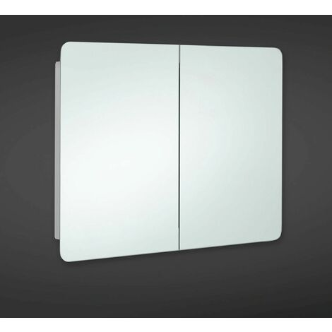 RAK Duo 660mm x 800mm x 120mm Double Stainless Steel Cabinet with Mirrored Doors - 12SL380