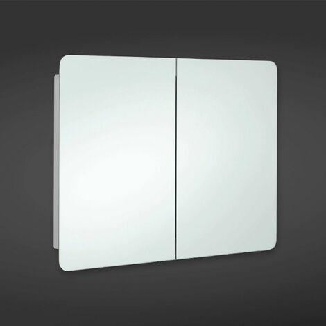 RAK Duo Unlit Rectangular Bathroom Mirror Stainless Steel Cabinet 660 x 800mm