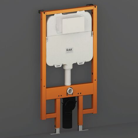 RAK Ecofix Concealed Toilet Support Frame with 80mm Concealed Cistern 1140mm High - Orange/White